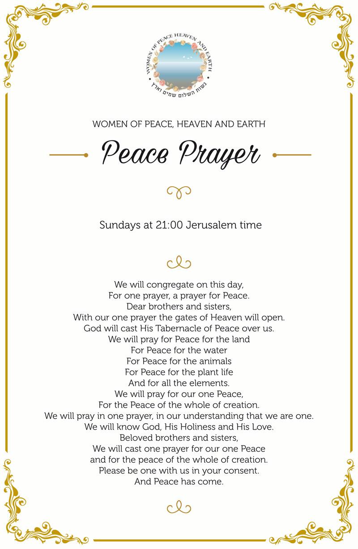 Peace Prayer Jerusalem